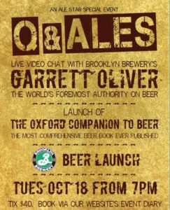 Poster for Q and Ales October 2011