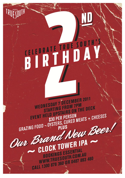Poster for True South's 2nd Birthday