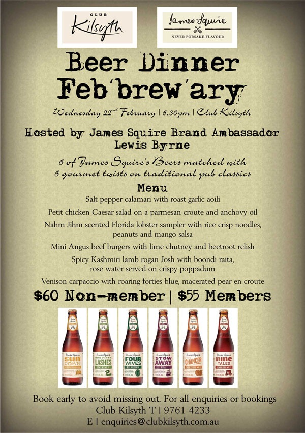 James Squire Febrewary Event