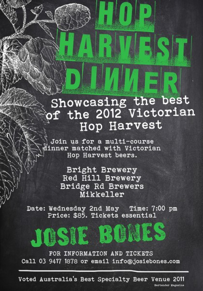 Poster for Hop Harvest Dinner
