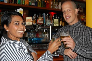 Image of Kosalay Pather and David Luschwitz at the Bayview Tavern