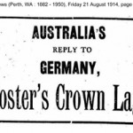 The Daily News (Perth, WA : 1882 - 1950), Friday 21 August 1914.