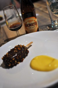 Image of chocolate dessert with Dogbolter beer