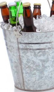 Image of beers in an ice bucket