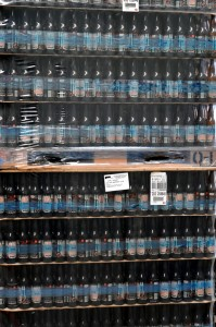 Image of stack of empty bottles ready for filling