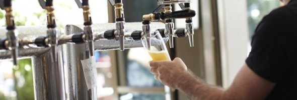 Banner images of beer taps at The Monk
