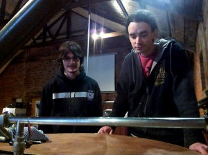 Image of Wilson Hede brewing with Steve Matthews