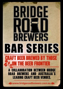 Poster image of the Bridge Road Brewery Bar Series