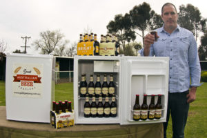 Photo of bar fridge full of Little Creatures beer and cider