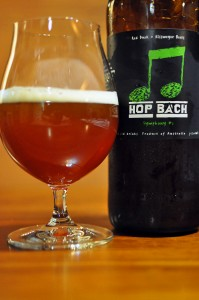 Photo of Red Duck Hop Bach beer and bottle