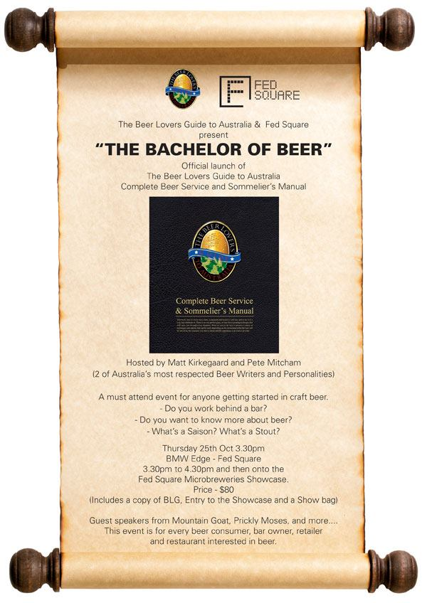 Event poster for The Bachelor of Beer