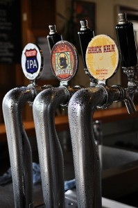 Photo of seasonal beer taps at Holgate