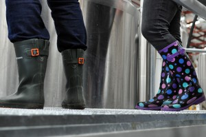 Photo of the gumboots of the Women of Beer