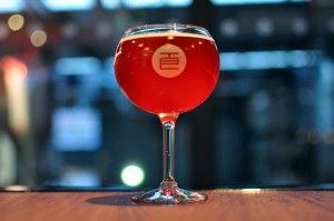 Photo of the Temple Scarlet Sour in a bulb glass