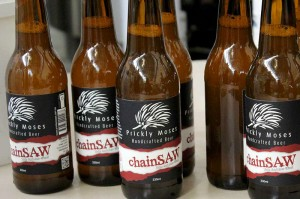 Bottles of Prickly Moses Chainsaw beer
