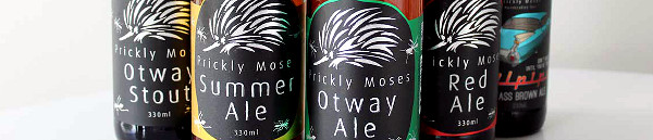 Banner image of Prickly Moses beer bottles