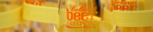 Banner image showing a Ballarat Beer Festival tasting glass