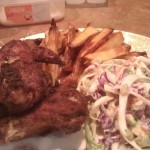wings and slaw