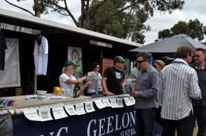 The Stone & Wood brewery stall at the festival