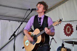 Bob Evan on stage at the beer festival