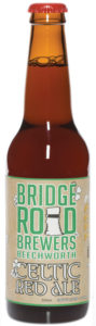 A bottle of Bridge Road Brewers Celtic Red Ale