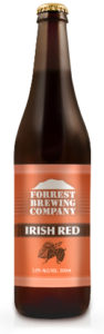 A bottle of Forrest Brewery Irish Red