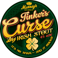 Tap decal for Murray's Tinklers Curse dry irish stout