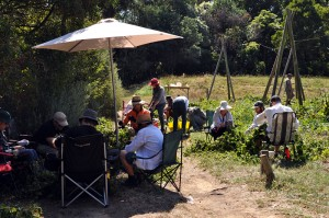 The pickers of the Red Hill hop harvest