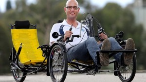 The specially designed bike which will take Ian and Scott from Brisbane to Sydney