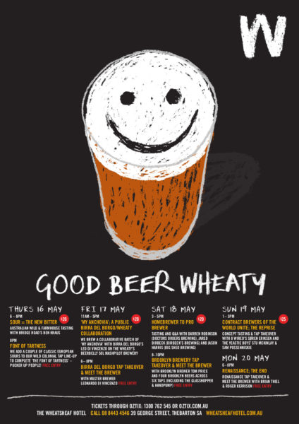 Events listing poster for Good Beer Wheaty 2013