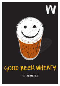Poster graphic for Good Beer Wheaty event