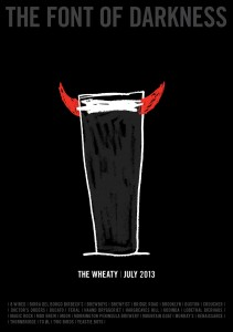 Poster for The Wheaty's Font of Darkness 2013 event