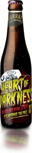 A bottle of Murray's Heart of Darkness Belgio Imperial Stout