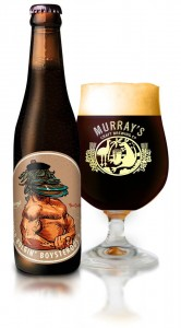 A bottle and glass of • Auld Bulgin' Boysterous Bicep Imperial Stout