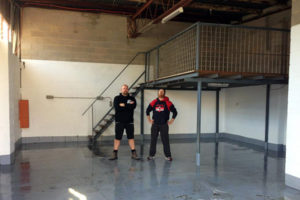 Jason and Craig of Big Shed Brewing in their empty brewery