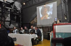 All eyes on the big screen (of bedsheet) as Brewin' rips into the beer ad world