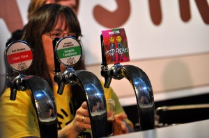Pouring beer at the Beervana Australia bar