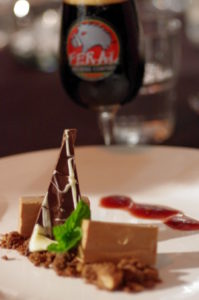 triple chocolate mousse layered yoghurt cheesecake with cocoa chard