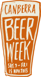Logo for Canberra Beer Week 2013