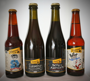 Bottles of Wayward Brewing beers