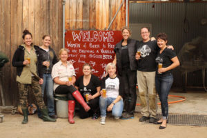 A group photo of the Women of Beer at Red Hill Brewery