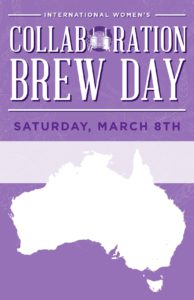 Poster image for the Australian International Women's Collaboration brew day