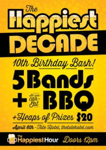 Event poster for The Happiest Decade