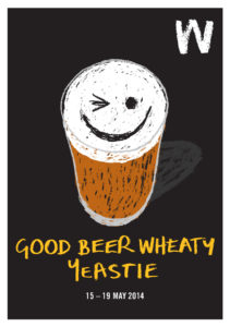Event poster for Good Beer Wheaty Yeastie 2014