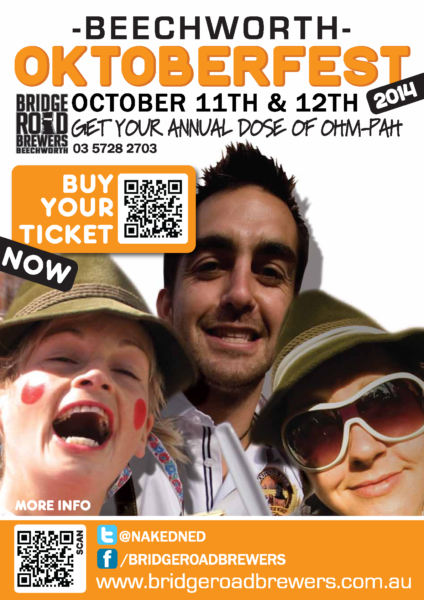 Event poster for Beechworth Oktoberfest 2014