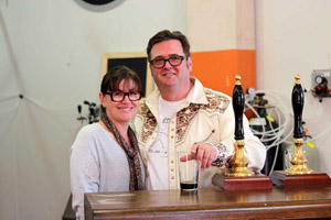 Doug, Melissa and the beer engines