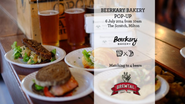 Event poster for Beerkary Bakery pop up event at The Scratch on 6th July 2014