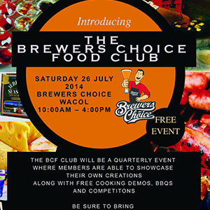 The Brewers Choice Food Club launches this Saturday