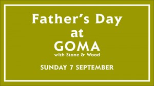 Father's Day at GOMA event poster