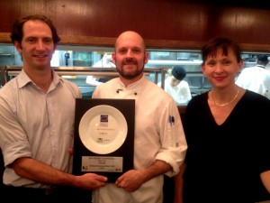 Eli Murphy (Restaurant Manager), Chris Beard (Head Chef), Janet Hollyoak (Co-founder)